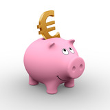 european piggy bank poster