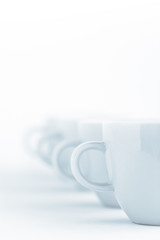 line of cups