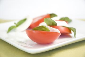 mozarella and tomatoes