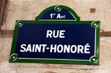 france, paris: rue saint-honore poster