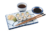 sushi meal complete isolated poster