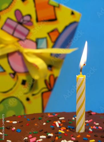 birthday cake and gift