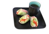 japanese salad roll & tea poster