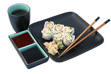 sushi dinner isolated poster