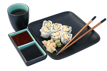sushi dinner isolated