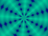 blue and green spiral poster