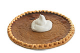 pumpkin pie - whip cream