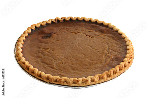 pumpkin pie isolated