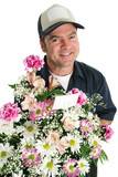 friendly flower delivery poster