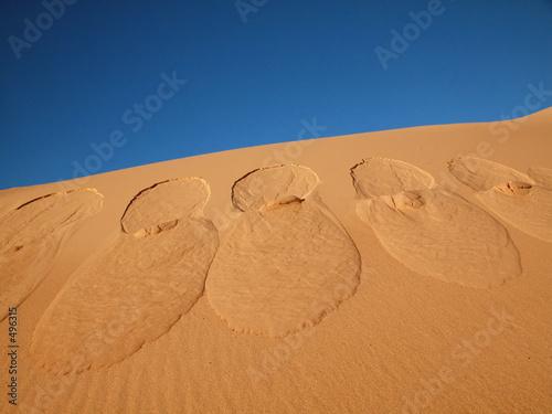 Leinwanddruck Bild footprints