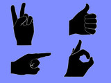 hand signals poster