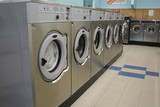 coin operated laundry poster