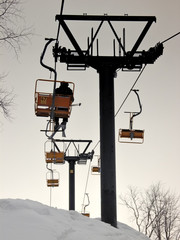 mountain chairlift