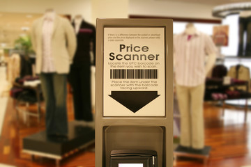 price scanner at mall