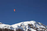 mountain paragliding poster