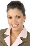 beautiful hispanic business woman poster