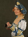 girl in polish clothes of 16 century poster