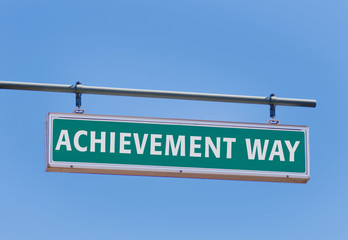 achievement way sign