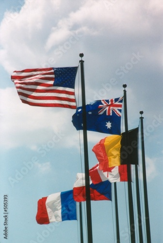 six of the allied forces flags