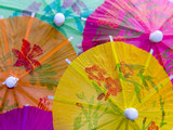 colorful cocktail umbrellas poster