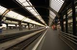 switzerland , zurich: railway station, departure poster