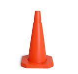 traffic cone isolated poster