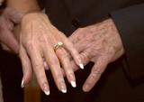 mature wedding hands poster