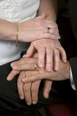 young wedding hands