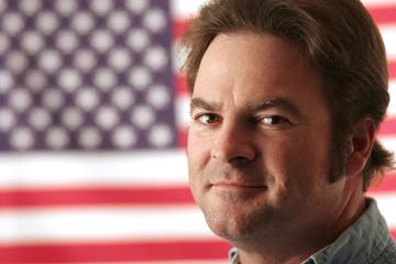 american man smiling