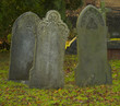 three gravestones