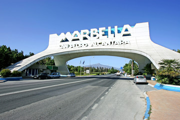 marbella arch in san pedro in spain