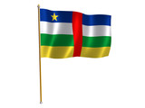 central african republic silk flag poster