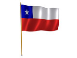 chile silk flag poster