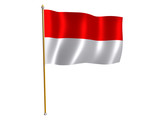 indonesia silk flag poster