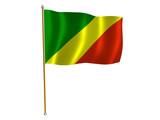 republic of the congo silk flag poster