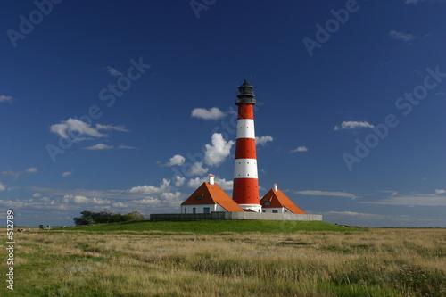 Leinwanddruck Bild der leuchtturm von westerhever