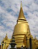 golden stupa - grand palace - bangkok poster