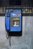 blue telephone poster