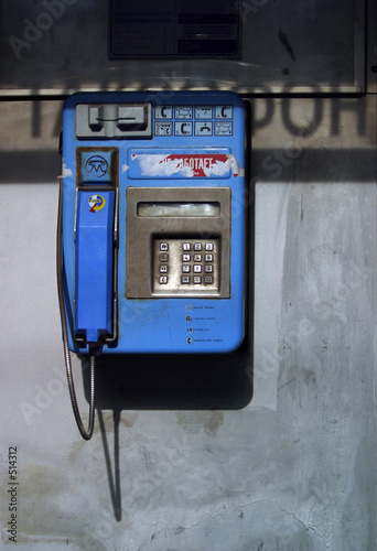 blue telephone