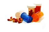 pills containers white poster