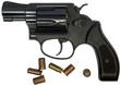 revolver black, isolated