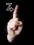 letter z in sign language poster