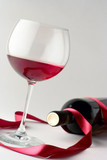wine glass and a wine bottle poster