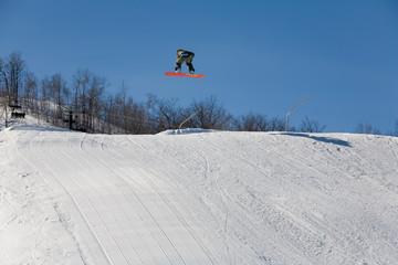 ski 018 snowboad jump