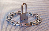 padlock & chain circle poster