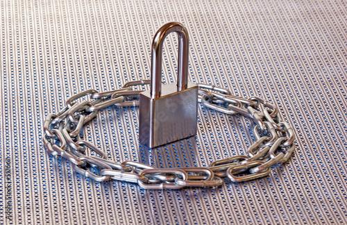 poster of padlock & chain circle