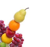 colorful fresh fruits totem poster
