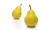 a pair of yellow pears poster