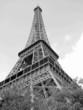 tour d'eiffel,paris, black and white