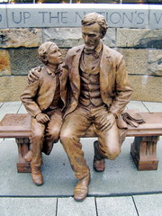 abraham lincoln and his son, todd